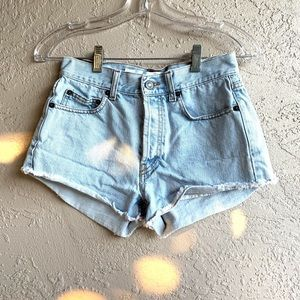Brandy Melville Light Wash Denim Shorts